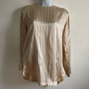 100% soft striped silk blouse